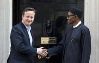 Buhari and British prime Minister David Cameron