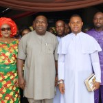 Gov. Ugwuanyi, others at Christmas Holy Mass in Enugu