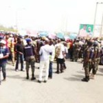 (Photonews) PDP supporters protest Southern Ijaw election results in Yenagoa