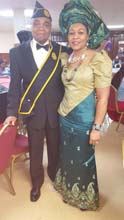 Sir (Architect.) Linus with his wife, Dr (Mrs) Stella Ngozi Korieocha