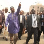 Amaechi, Sirika tour NIMASA Headquarters, Resource Centre in Lagos