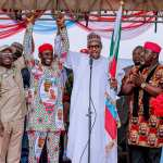 "''Electricity has no political colour,"" President Buhari declares at inauguration of IPP in Aba; Campaigns in Abia, Imo states"