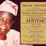 Pa Joseph Oyedokun Adeyemo goes home