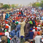 Kwakwasiyya crowd overwhelms as Atikulation train storms Kano   …..Atiku, Secondus, Obi, Saraki others insist it's over for APC, Buhari.
