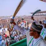 Business booms, free medicare care as Buhari campaigns in Ilorin; Lai Mohammed: 'It's time to vote out the rapacious govt in Kwara