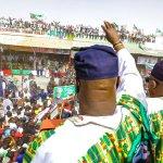 2019: 'Buhari must go,' Atiku tells Adamawa people; 'Nigerians have endorsed your son, don't fail him,' Secondus tells crowd