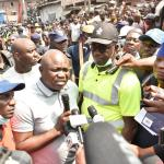 Ambode visits scene of collapsed building; Orders probe