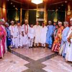 We're deploying technology to tackle insecurity, President Buhari assures South West Obas; Pledges on on-going projects in meeting with Olu of Warri