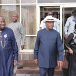 Ex-President Jonathan visits Governor Wike
