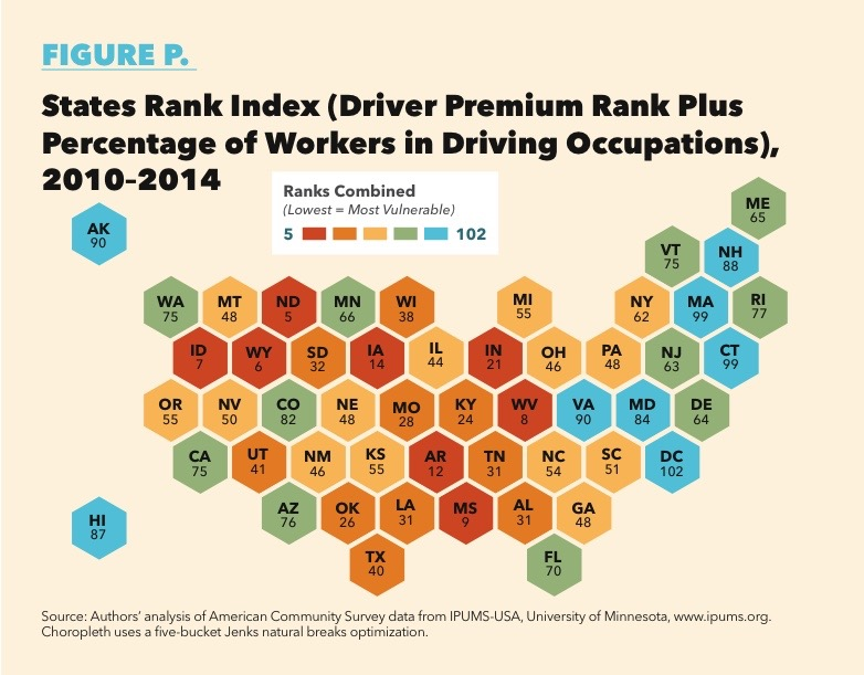 These States Would Likely Be Hardest Hit By Wide Scale Adoption Of Autonomous Vehicle Technology That Targeted The Sorts Of Driving Jobs They Support