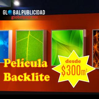 Impresión en película Backlite