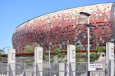The stadium in Soweto - Soccer City. Holds 94,700