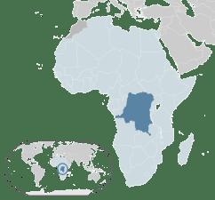Location of Democratic Republic of Congo