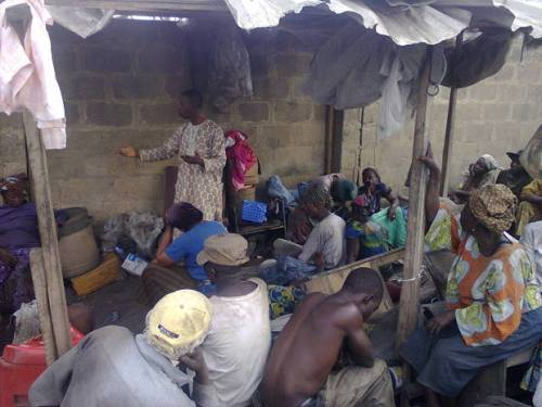waste pickers' meeting in ibadan, nigeria