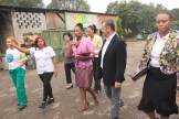 The South African delegates visiting CooperLimpa with Maria Mônica da Silva as their guide. Photo credit: WIEGO.