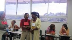 Atividade de apresentação durante a abertura da oficina / Introducing each other activity during the opening of the workshop