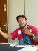 Alex speaking about the cooperatives and MNCR to the Cooperatives Branch at the ILO. Photo: Lucia Fernandez.