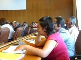 Nohra Padilla speaking at the Workers' Committee. Photo: Lucia Fernandez.