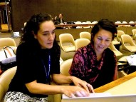 Preparing the speech to be delivered at the plenary. Photo: Alex Cardoso.