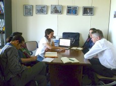Final meeting with the Green Jobs Department. Photo: Karin Pape