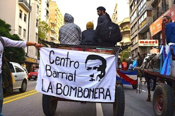 Centro Barrial La Bombonera in the National March in Uruguay. Photo: Centro Barrial la Bombonera.