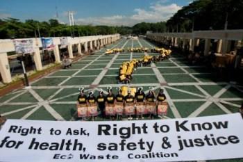 The EcoWaste Coalition banner. (Photo: EcoWaste Coalition)