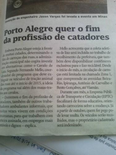 """""""Porto Alegre quer o fim da profissão de catadores"""""""