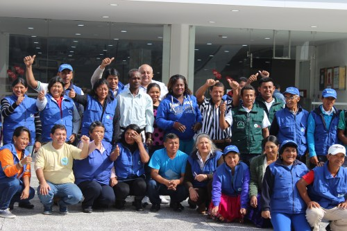 Waste Pickers from across Ecuador participate in Renarec's Assembly