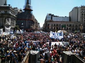 Marcha de FACyR CTEP en Buenos Aires. 22 nov. 2017