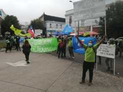 Valparaíso, V region of Chile, waste pickers protest by El Molle