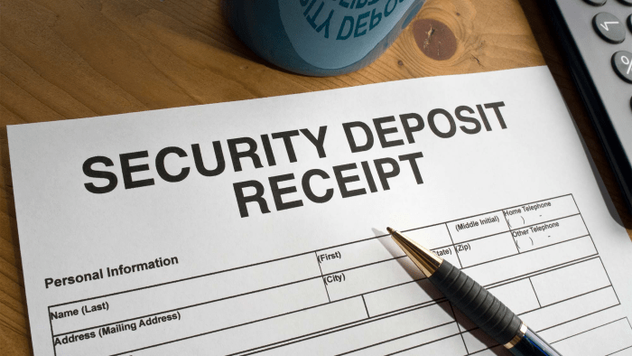Security Deposit Checkpoints