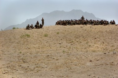 Afghan National Army Training (Photo by Ann Jones)