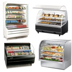 Used Kitchen Equipment Miami Vintage Posters For Display Case Refrigerated Bakery European Style Curved Glass