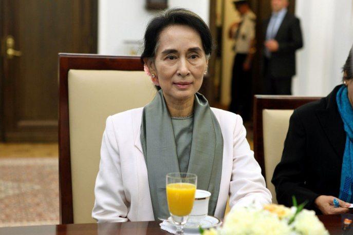 Aung San Suu Kyi, leader of Myanmar.