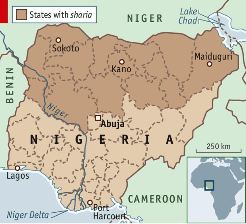 Nigeria religious division