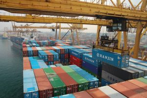 containers in Colombo harbour