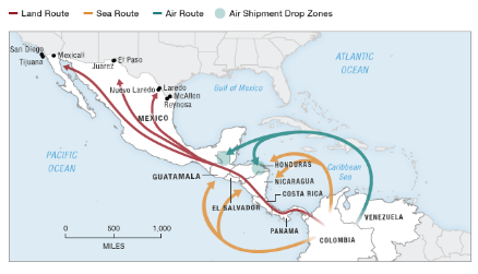 The Real Risks To The US Come From Mexicos Southern Border - Us southern border map