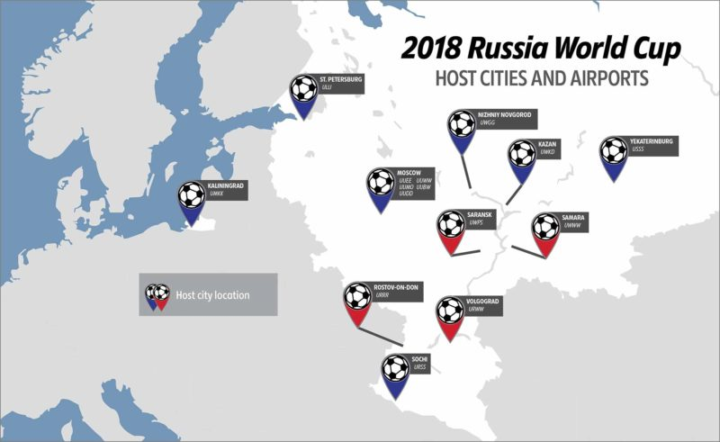 russia world cup cities