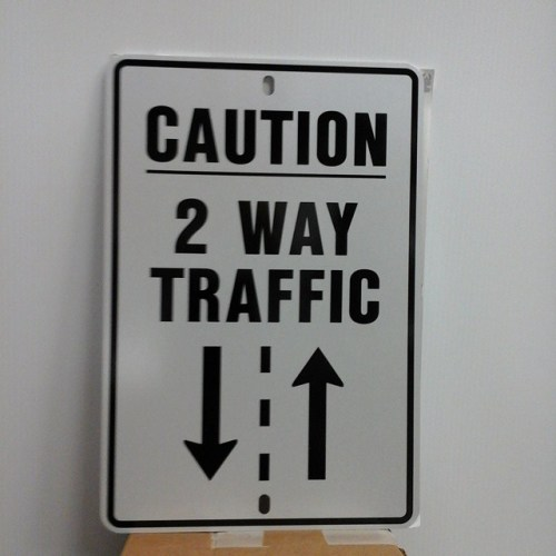Customized reflective traffic sign, 30cm x 45cm