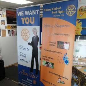 Rotary Bannerstands