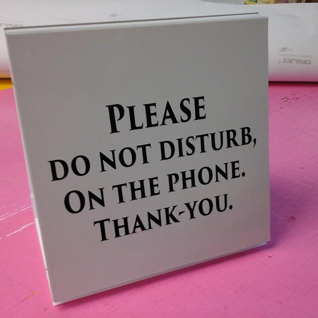 """8"""" x 8"""" desk sign"""