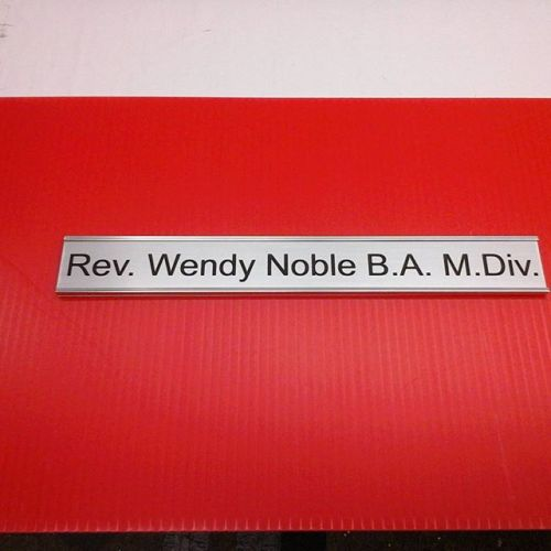 "1.5"" x 12"" laser nameplate & holder"