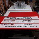 "8"" x 48"" digital prints on coroplast"