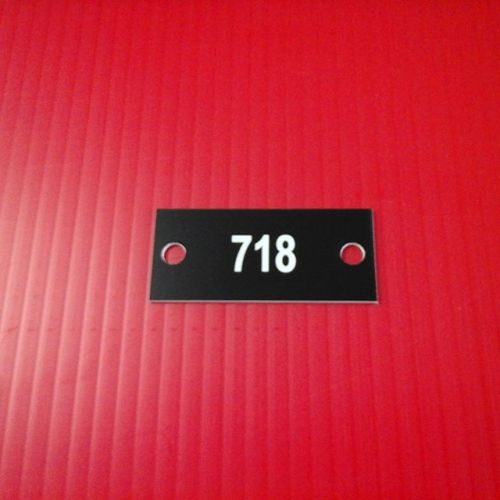 """1.125"""" x 2.5"""" laser mailbox numbers"""