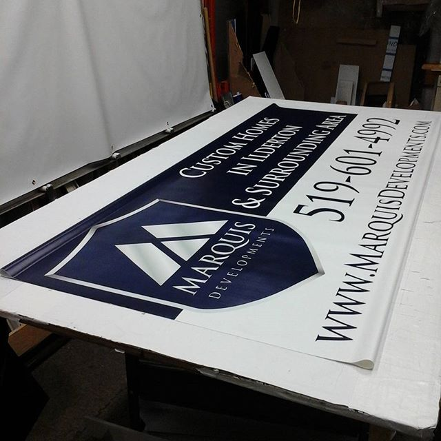 Banner with pole pockets