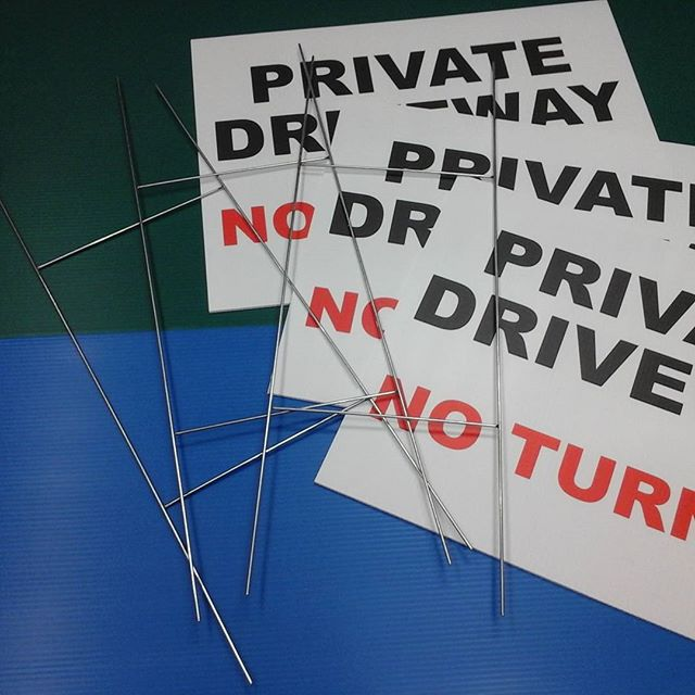 H-wire Lawn Signs
