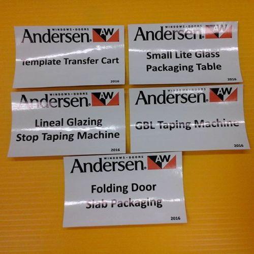 Adhesive Vinyl Decals