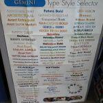 Popular Gemini Fonts