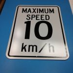Heavy duty aluminum speed limit sign