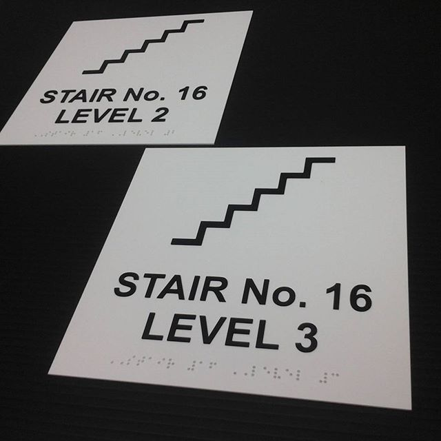 Braille Stairwell Signs